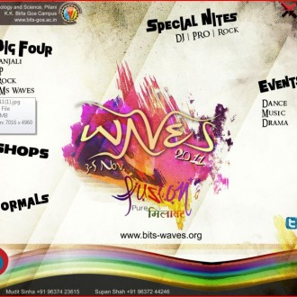 BITS Pilani Goa Campus Invites You To 'Waves 2011′