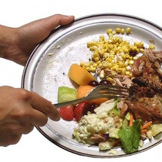 What Amount Of Food Goes From Your Plate Into The Garbage Bin?