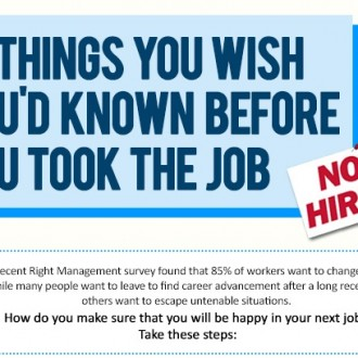 12 Things You Wish You Had Known Before You Took The Job #Infographic