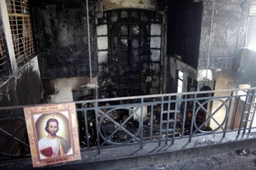 Fire in Fire destroys St Sebastian's Church